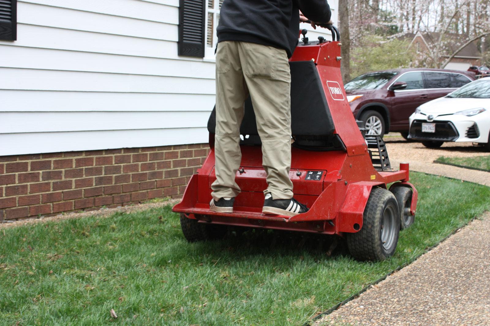 Aeration by Prestigious Turf Management - Yorktown Virginia - Lawn Treatments