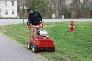 Slit Seeding by Prestigious Turf Management - Yorktown Virginia - Lawn Treatments