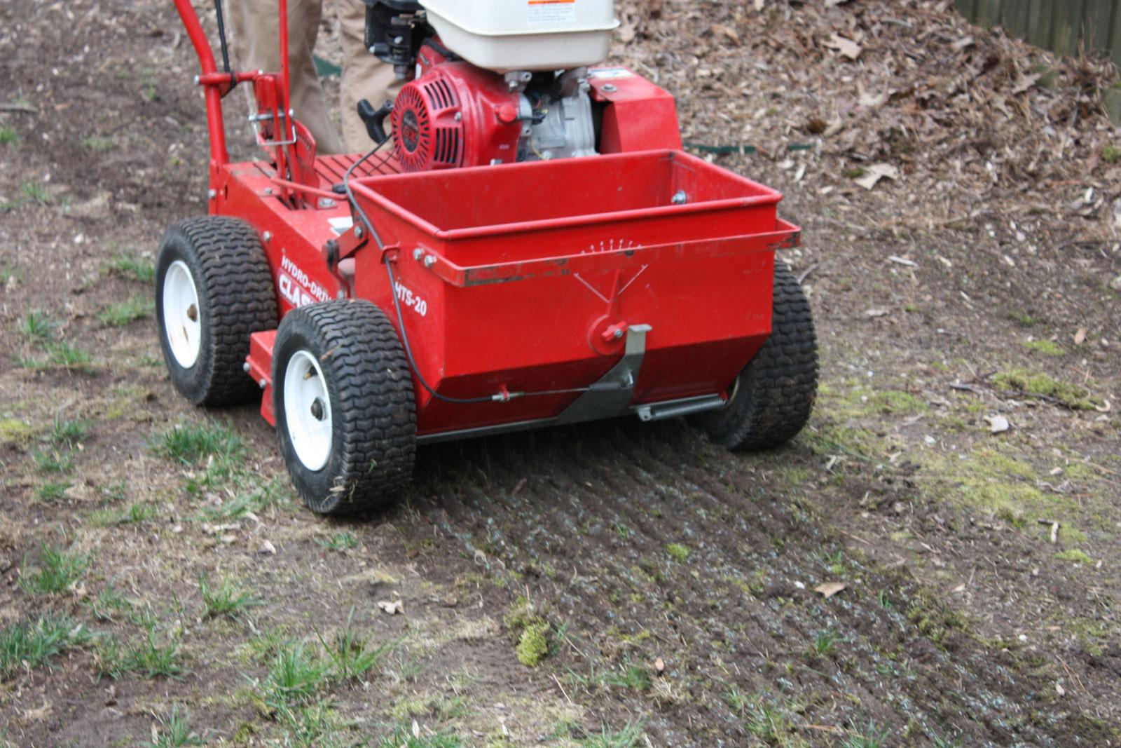 Slit Seeding by Prestigious Turf Management - Yorktown Virginia - Lawn Treatments