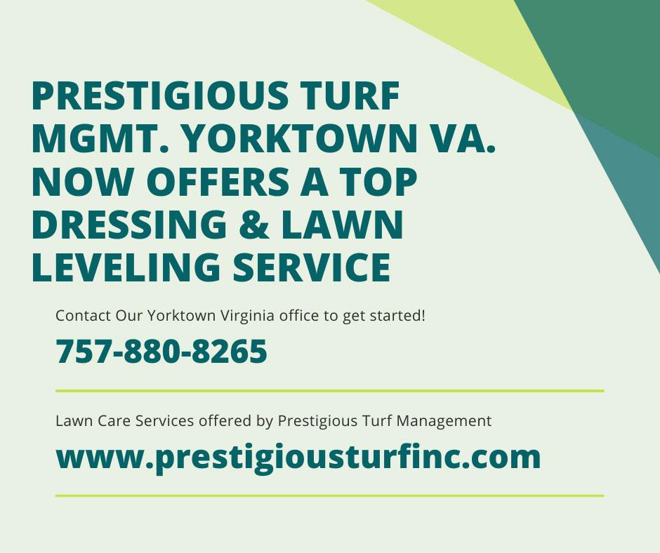 Lawn top dressing & lawn leveling - Prestigious Turf Management - Yorktown VA