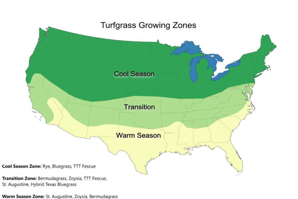 Seed Zone Map by Prestigious Turf Management - Yorktown VA