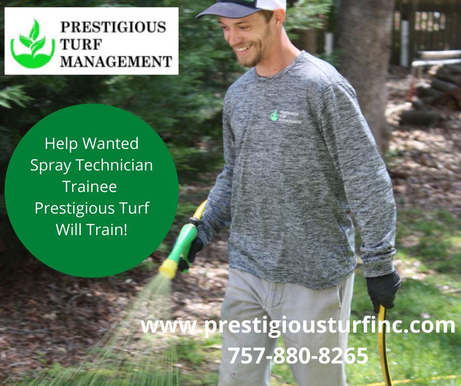 Spray Technician Wanted - Prestigious Turf Management Yorktown VA